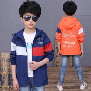 1395童装2017春秋装新款卡通男童飞机儿童上衣外套夹克韩版冲锋衣