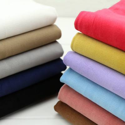 细灯芯绒布_优质纯棉力灯芯绒面料中细条纹中厚条绒布秋冬装外套裤子