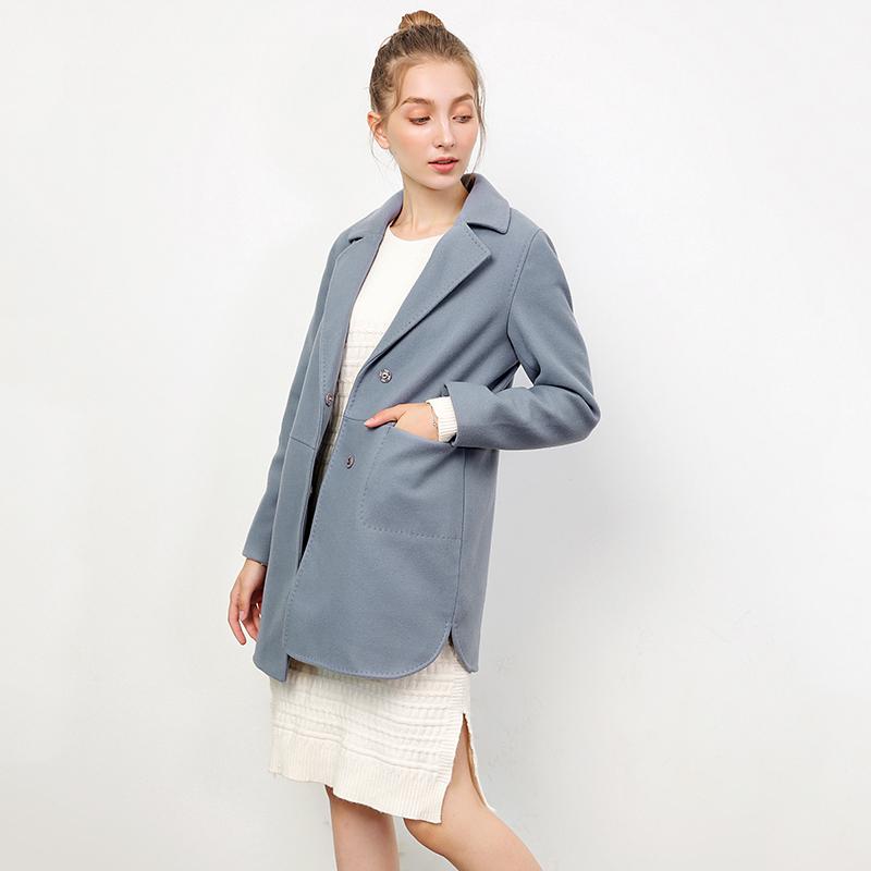 Chống mùa sản phẩm mới 9 quyến rũ HH1C0047 giản dị Hàn Quốc phiên bản của áo len coat counter giảm giá của phụ nữ 2018 mùa đông