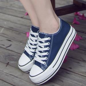 Mùa xuân và mùa hè nền tảng mới giày vải phụ nữ 2017 mới hoang dã giày thường nữ sinh viên giày thể thao thoáng khí trắng giày vải