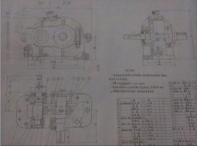 一级减速器夹具图_手绘A1一级圆柱齿轮减速器装配图,成品图纸/纯手工铅笔绘图-淘宝网