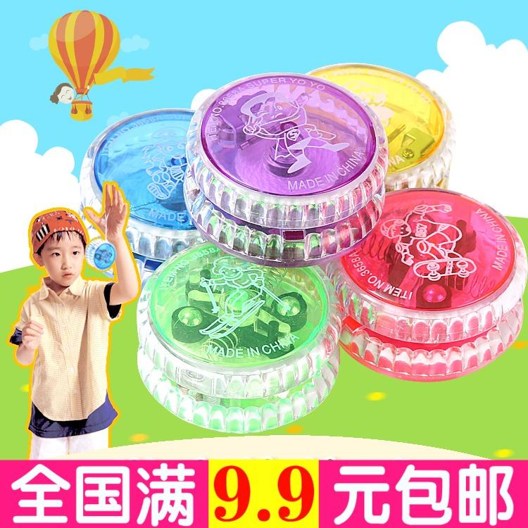 Trẻ em nhựa sáng yo-yo chói yoyo bóng với bóng dây gian hàng đồ chơi