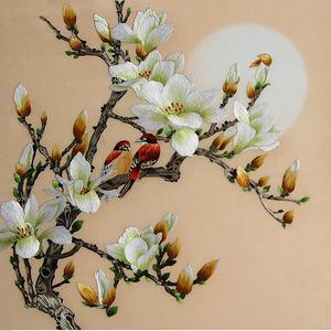 Nổi tiếng cổ thêu nghệ thuật thêu thêu diy kit người mới bắt đầu handmade sơn trang trí magnolia 35 * 35 CM