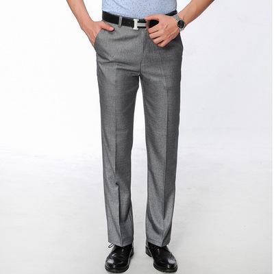Quần nam mùa hè phần mỏng người đàn ông kinh doanh quần thẳng trung niên thoải mái giản dị đa năng hot phù hợp với quần quần Suit phù hợp