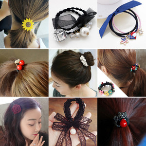 Hàn quốc tóc ngọt ngào phụ kiện tóc nhẫn lady head rope tie tóc ban nhạc holster tóc ban nhạc hoang dã dành cho người lớn tiara tóc dây