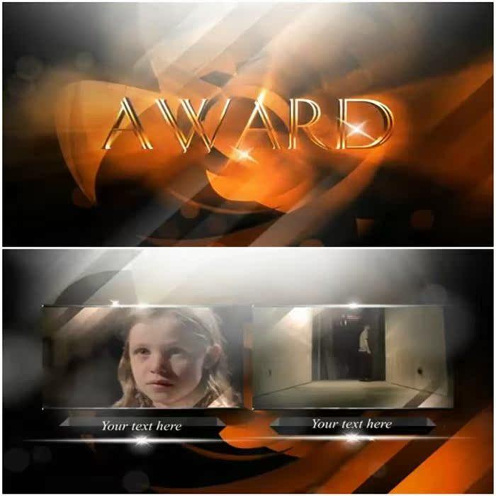 提名仪式电视颁奖华丽颁奖晚会片头电视颁奖晚会包装AE模板