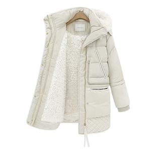 Quần áo mùa đông chống mùa giải phóng mặt bằng dày xuống áo khoác nữ phần dài 2018 mới của Hàn Quốc phiên bản của triều mùa đông lamb fur coat nữ