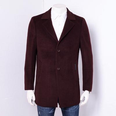 Bò hàng hóa nam mùa thu và mùa đông nam tinh khiết áo len rượu vang đỏ phù hợp với cổ áo ấm chần dày đầy đủ áo len Áo len