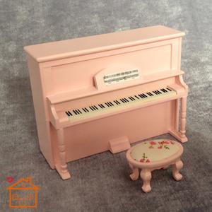 1:12 nhà búp bê diy cabin mini mô hình tĩnh cảnh phụ kiện đàn piano thẳng đứng mô hình nhạc cụ trang trí