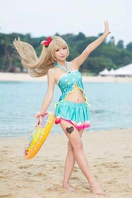 taobao agent Xiaowu fluttering cosplay love live South Bird Hawaii swimsuit dead reservoir water cos suit