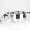 不锈钢汤锅加厚家用火锅煲汤锅具烧水煮奶锅燃气电磁炉通用包邮