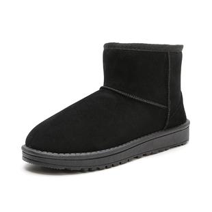 冬季雪地靴女短筒一脚蹬百搭