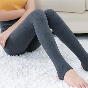 秋季纯棉薄款竖条螺纹显瘦打底裤