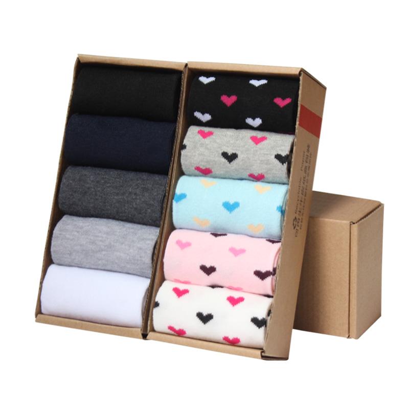 袜子男四季中筒袜男女袜黑白色长袜纯色长筒10双四季男士