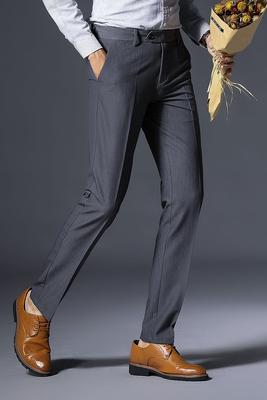 Playboy quần âu nam nóng quần mùa hè mỏng căng lỏng mỏng thẳng kinh doanh quần dài