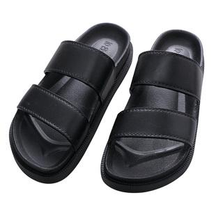 韩版防滑浴室居家外穿松糕一字拖鞋