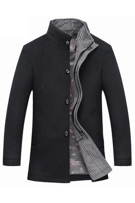 Áo len mùa đông trung niên của người đàn ông len trong phần dài của áo gió dày trung niên cha nạp áo Nizi Áo len