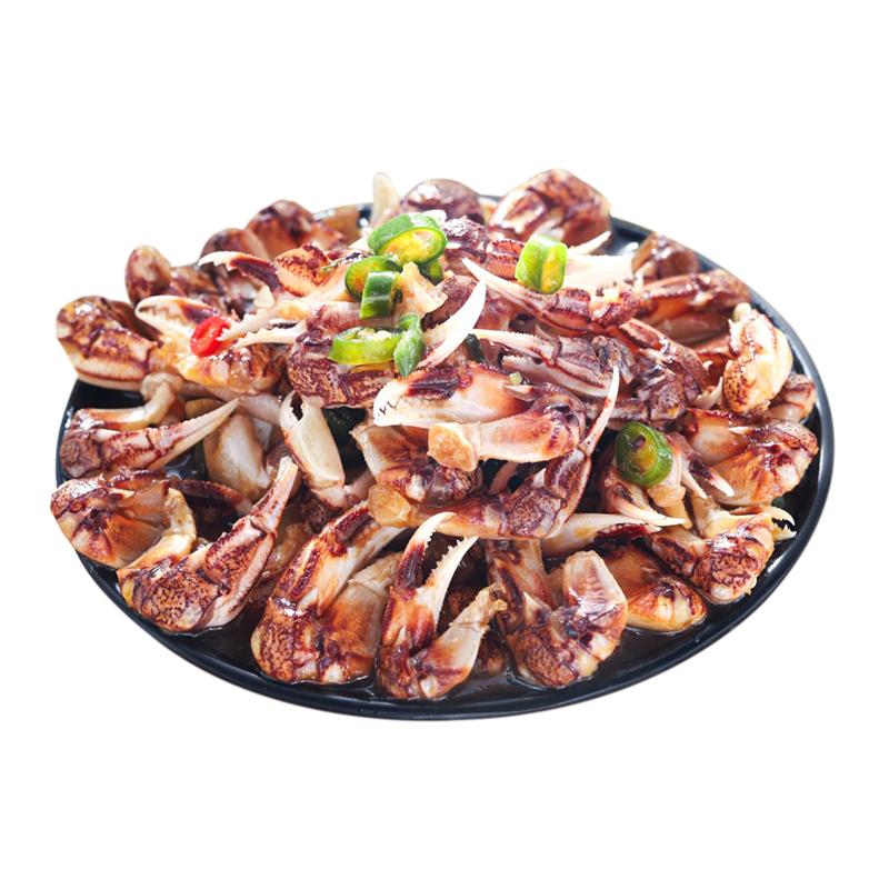 麻辣醉蟹钳生腌蟹钳螃蟹脚即食罐装海鲜香辣醉蟹脚蟹腿青岛特产