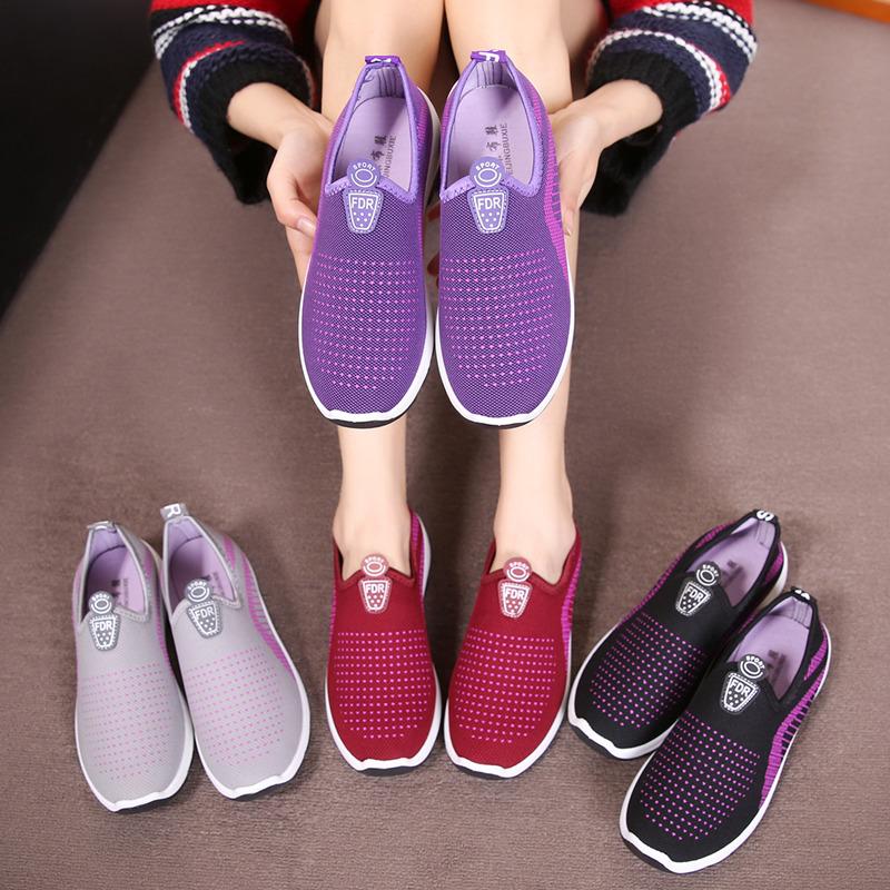 夏季新款女鞋平底单鞋休闲鞋