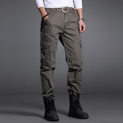 Mùa hè của nam giới đa túi overalls nam quần âu lỏng quần dài thể thao ngoài trời quần phần mỏng cotton quân sự quần Quần làm việc