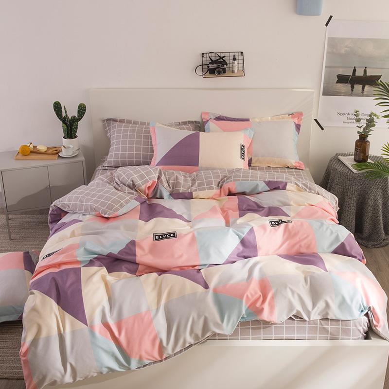 加厚磨毛四件套纯棉欧式简约1.8m床上用品1.5宿舍被套床单三件套