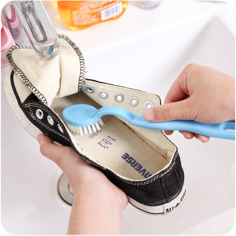 创意家用多功能双头长柄清洁洗鞋刷鞋内侧边刷子去污鞋刷擦鞋刷子