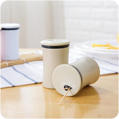 牙签盒便携随身创意欧式牙签罐简约客厅牙签筒家用桌面塑料牙签盒