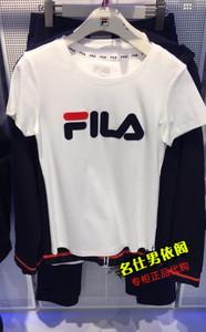FILA Fila 18 mùa hè nam giới và phụ nữ vài mô hình đan thể thao ngắn tay T-Shirt F11W818104F 's 25643140