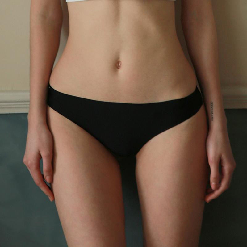 未满 无痕内裤女低腰性感轻薄丁字裤夏季打底t裤隐形底裤舒适