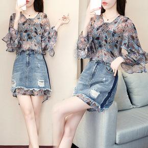 春夏装新款女韩版时尚俏皮雪纺衬衫