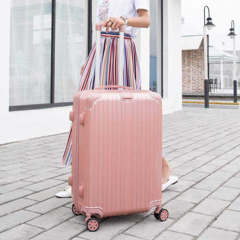 行李箱女拉杆箱旅行箱男学生密码箱铝框万向轮20寸箱包韩版皮箱子