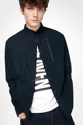 JackJones Jack Jones bông của nam giới chỉ tay áo dài 216305570 áo sơ mi cộc tay nam Áo