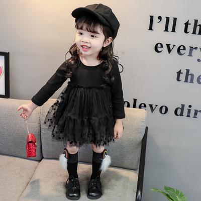 女宝宝春秋装连衣裙新款0-1-2-3-4-5-6岁婴儿连衣裙宝宝女童裙子