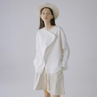 立体剪裁不对称设计感白衬衫JIAXINXU原创独立设计师品牌早春新品