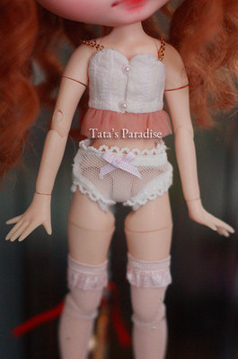 taobao agent blythe cloth baby clothes white silk mesh lace bow panties fat times