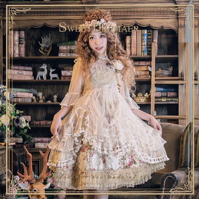 TaobaoRing And Nunnery Vintage Antique Little Fairy Mesh Overlay Dress Sweetdreamer - Taobao