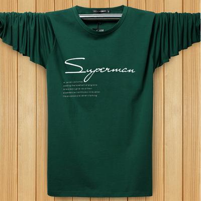 Lỏng kích thước lớn dài tay T-Shirt nam mùa hè phần mỏng cotton vòng cổ áo sơ mi XL fat man thể thao dài tay t-shirt ao thun nam dep Áo phông dài