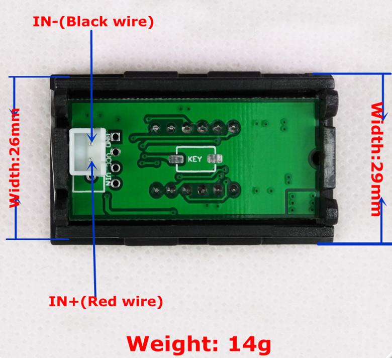Line Powered Digital Voltmeter : Dc panel digital led volt voltage meter voltmeter