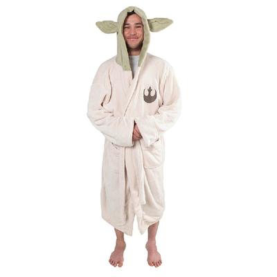 taobao agent 【Spot】American drama Star Wars Yoda Yoda coral fleece pajamas adult bathrobe children night gown home service