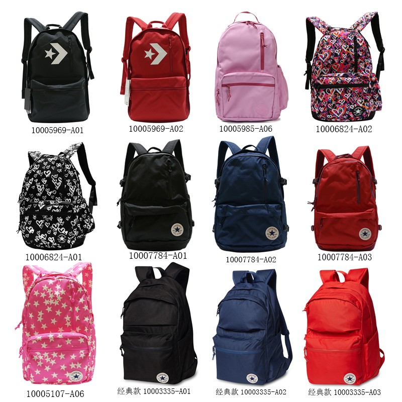 035981a2f498 Converse backpack men and women classic backpack student bag travel  computer bag 10003335-A01-