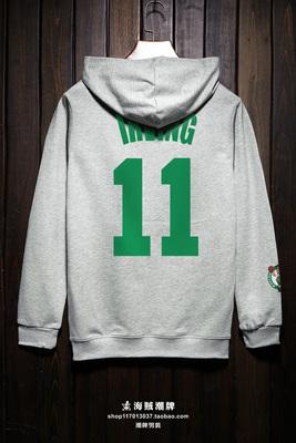 Mùa xuân và Mùa Thu phong cách hip hop áo len nam Celtic Owen Kobe Harden bóng rổ mỏng cardigan trùm đầu áo khoác Áo len