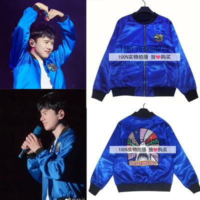 2017 Tôi muốn các tour du lịch thế giới cộng với Milan Vancouver Zhang Jie với cùng một quần áo thêu đồng phục bóng chày buổi hòa nhạc áo khoác Đồng phục bóng chày
