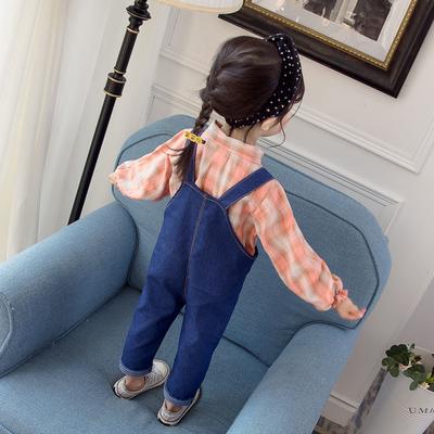 宝宝春装套装女小童牛仔背带裤两件套0一1-3岁半女童外穿