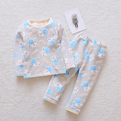 儿童保暖内衣套装加绒加厚冬季0一1-2-3岁男女童宝宝秋衣裤两件套