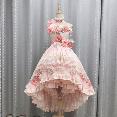 taobao agent Xiaozhijia fold hell one day become a princess cos Xia cosplay adult dress pink