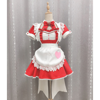 taobao agent Xiaozhijia Fold Hell Yasna cos Sword Art Online cosplay red maid outfit