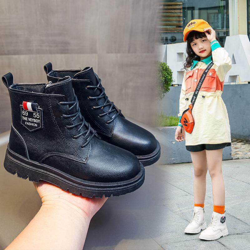 女童靴子2020年秋冬季新款女童马丁靴洋气公主短靴女童鞋冬款加绒