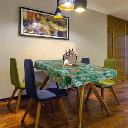 ins风网红桌布防水防油加厚免洗台布正方餐桌布茶几布长方形