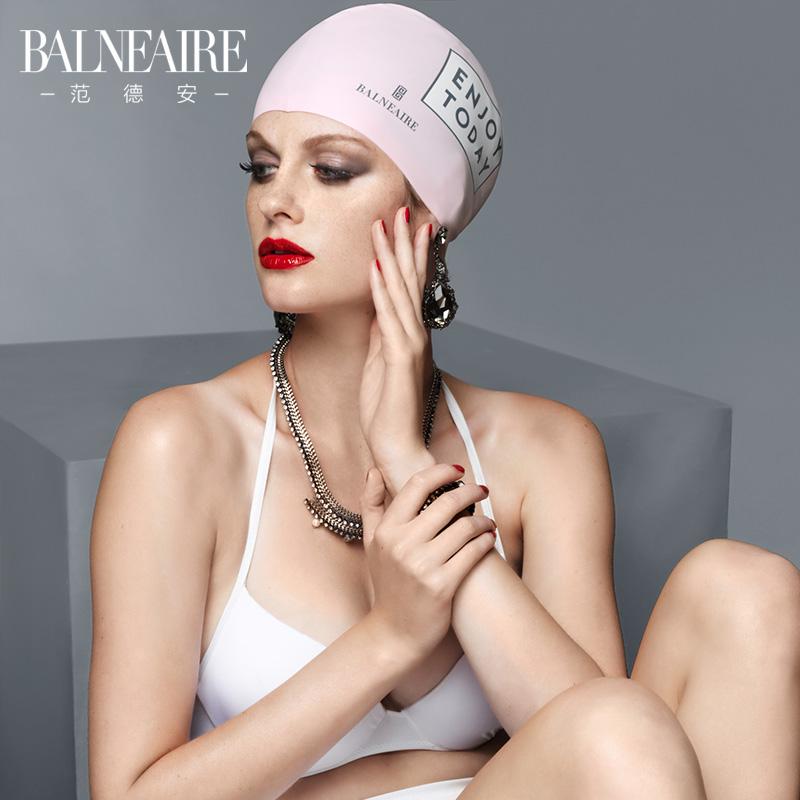 范德安泳帽女 大号硅胶防水护耳专业游泳帽 男女通用长发成人泳帽