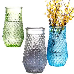 北欧式大号玻璃水培透明花瓶加高款